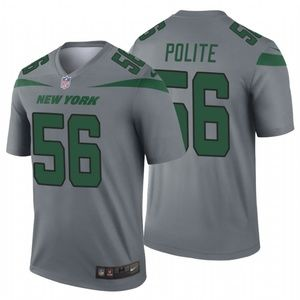 Men's Jachai Polite #56 New York Jets Jersey